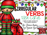 Irregular Verbs Task Cards - Holiday Edition