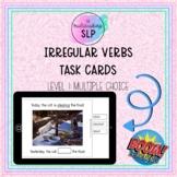 Irregular Verbs Task Cards: Level 1 (Multiple Choice)- BOO