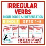 Irregular Verbs Word Sorts 1-5 Bundle - Google Apps - Dist
