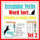 Irregular Verbs Word Sort #2 with Pictures and Cloze Review Questions ELL