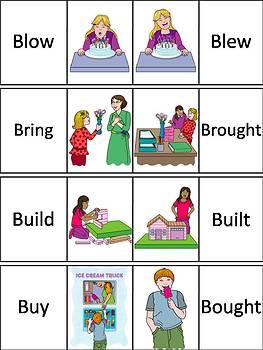 Irregular Verbs Word Wall Cards
