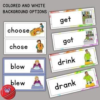 Irregular Verbs Word Wall Set for Young Learners (ESL/ELA)