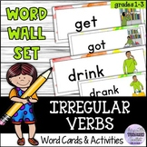 Irregular Verbs Word Wall Set and Activities for Young Lea