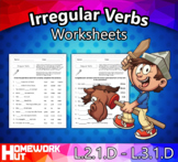 Distance Learning - Irregular Verbs Worksheets