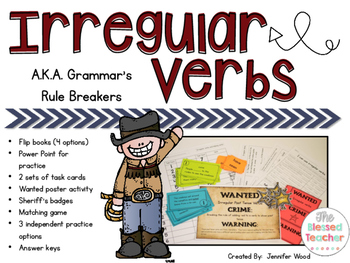 irregular verbs a k a the grammar rule breakers by the blessed
