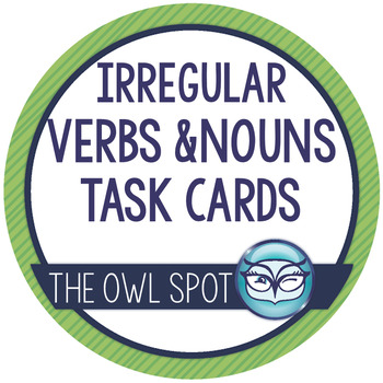 Irregular Verbs and Plural Nouns task cards