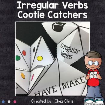 Irregular Verbs cootie catchers - Fortune tellers