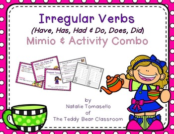 Irregular Verbs - (have, do) - Read the Room, Center, and Mimio Combo