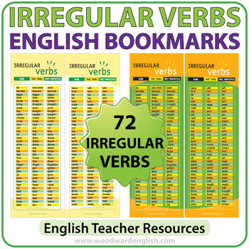 Irregular Verbs in English - Bookmarks