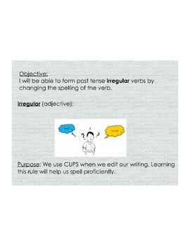 Irregular Verbs in the Past Tense