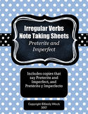 Irregular Verbs in the Past Tense Note Taking Guide