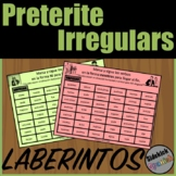 Irregular Verbs in the Preterite Tense Mazes in Spanish