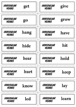 Irregular Verbs of English - Flashcards