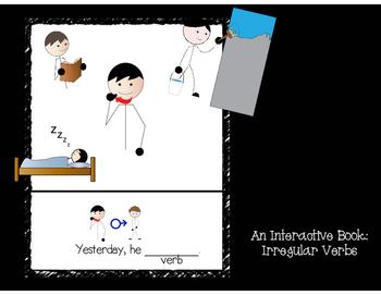 Irregular Verbs (past tense): Interactive book