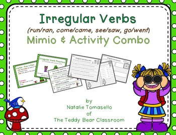 Irregular Verbs - (run, come, see, go)- Read the Room, Cen
