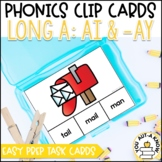 Irregular Vowel {Long A}: AI and  AY Clip Cards