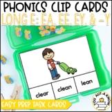 Irregular Vowel {Long E}: EA, EE, EY, and -Y Clip Cards
