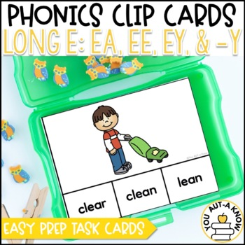Irregular Vowel {Long E}: EA, EE, EY, and -Y Clip Cards