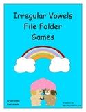 Irregular Vowel File Folder Games - Spring Themed