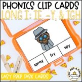 Irregular Vowel {Long I}: IE, -Y and  IGH Clip Cards