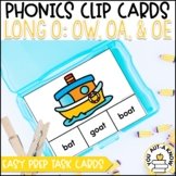 Irregular Vowel {Long O}: OW, OA, and OE Clip Cards