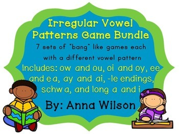 Irregular Vowel Pattern Games Bundle