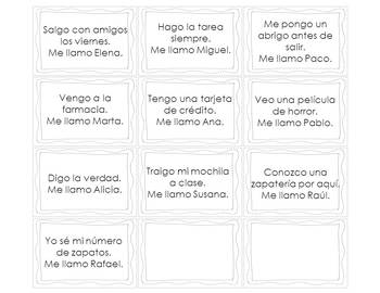 Spanish Speaking Activity Irregular YO form verbs