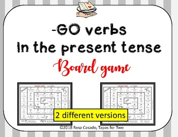 Irregular YO verbs Board Game