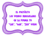 SONG- Irregular Yo-Form Verbs in the Preterite - Spanish -
