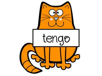 Irregular Yo Verbs Cat Bulletin Board Set