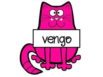 Irregular Yo Verbs Cats for Bulletin Board
