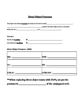 Irregular Yo and Direct Object Guided Notes