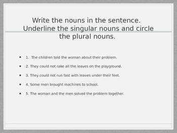 Irregular and Plural Nouns
