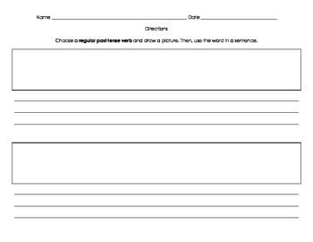 Irregular and Regular Past Tense Verb Sort and Worksheets