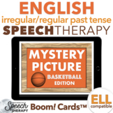 Irregular and Regular Past Tense Verbs Basketball Mystery Picture Boom Cards™