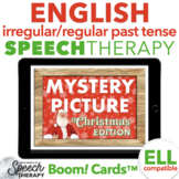 Irregular and Regular Past Tense Verbs Christmas Mystery Picture Boom Cards™
