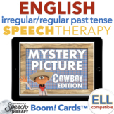 Irregular and Regular Past Tense Verbs Cowboy Mystery Picture Boom Cards™
