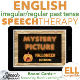 Irregular and Regular Past Tense Verbs Halloween Mystery Picture Boom Cards™