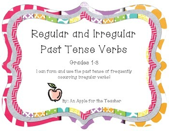 Irregular and Regular Past Tense Verbs Practice (Freebie)