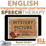 Irregular and Regular Past Tense Verbs Thanksgiving Mystery Picture Boom Cards™