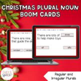 Irregular and Regular Plural Nouns Boom Cards | Christmas Themed Language
