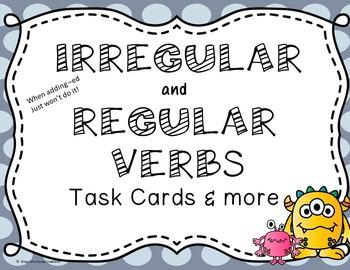 Irregular and Regular Verbs Task Cards and More