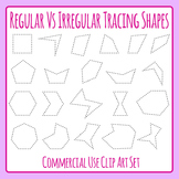 Irregular and regular Tracing Shapes for Sorting, Tracing, Fine Motor & Cutting