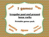 Irregular past and present tense verbs game bundle - 5 GAMES!!