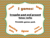Irregular past and present tense verbs game bundle - 5 GAMES!!