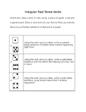 Irregular past tense verbs dice activity