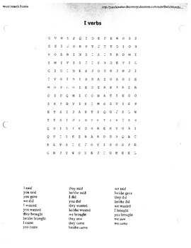 Irregular preterite puzzles (verbs with i or j in stem)