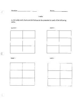 Irregular preterite worksheet (i or j in stem)