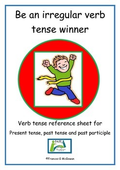 Irregular verb Reference Sheets, past, present and past pa