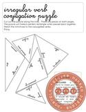 Irregular verb conjugation puzzle